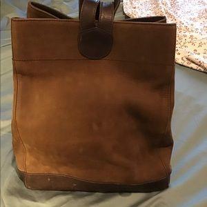 Ellington Brown Suede leather backpack